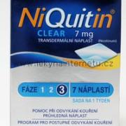 NiQuitin Clear 7 mg - 7 náplastí