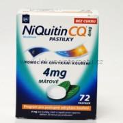 NiQuitin CQ 4 mg pastilky - 72 ks