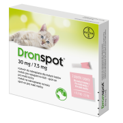 Dronspot 30mg/7.5mg malé kočky spot-on 2x0.35ml