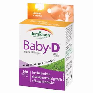 Jamieson Baby-D Vitamín D3 400 IU kapky
