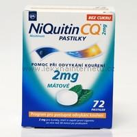 NiQuitin CQ 2 mg pastilky - 72 ks