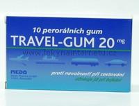 Travel-Gum 20 mg - 10 ks