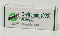 C-vitamin 1000 Pharmavit - 10 šumivých tablet