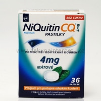 NiQuitin CQ 4 mg pastilky - 36 ks