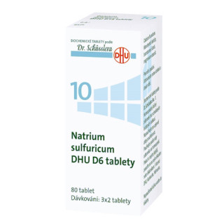 Schüsslerova sůl č. 10 - Schüsslerovy soli - Natrium sulfuricum