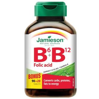 Jamieson Vitamíny B6 B12+kyselina listová