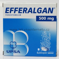 Efferalgan 500 mg - 8 šumivých tablet